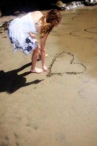 Jennifer Valeria on the Beach