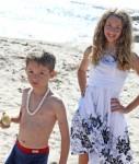 Alex and Jennifer on the Beach